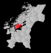 Kart Indre Fosen